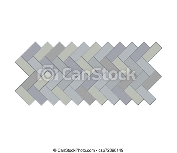 Garden path. View from above. Vector illustration on a white background. - csp72898149
