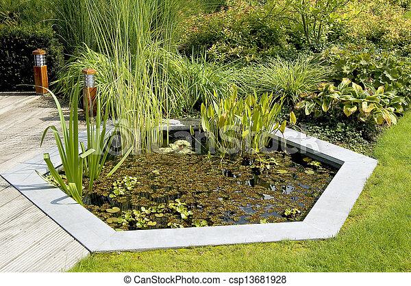 Garden Pond - csp13681928