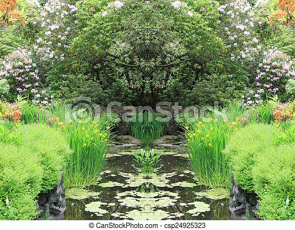 Garden pond - csp24925323