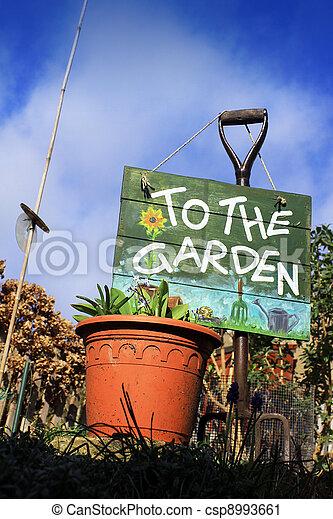 Garden Sign - csp8993661