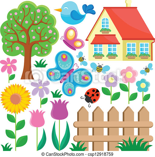Garden theme collection 1 - csp12918759