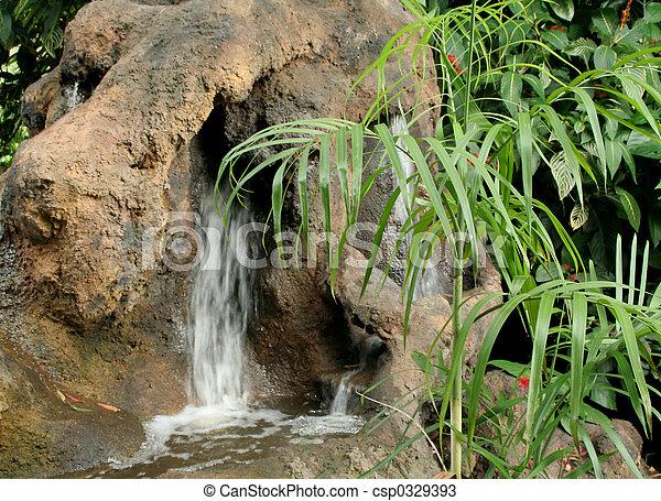 Garden waterfall - csp0329393