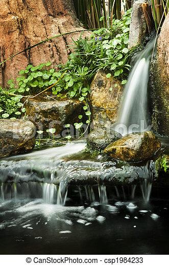 Garden waterfalls. - csp1984233