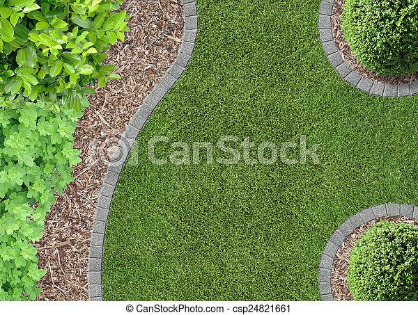 gardendetail, aerial udsigt - csp24821661