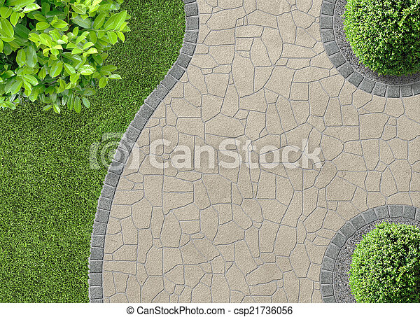 Gardendetail in top view - csp21736056