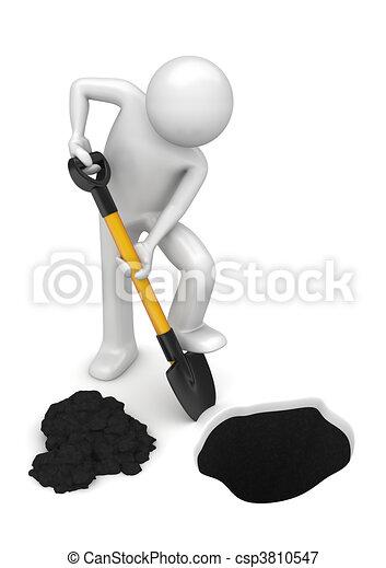 Gardener-digger - Workers collection - csp3810547