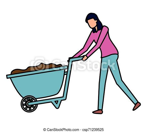 gardener woman work gardening design - csp71239525