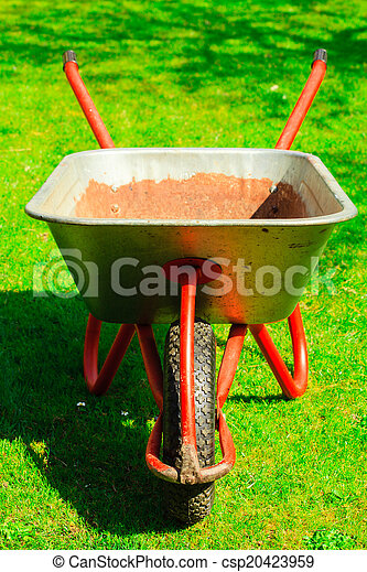 Garden Wheelbarrow With Sand Soil.   Csp20423959