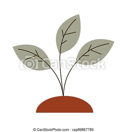 gardening growth plant icon on white background - csp89867789