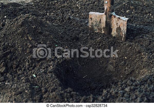 Gardening shovel - csp32828734