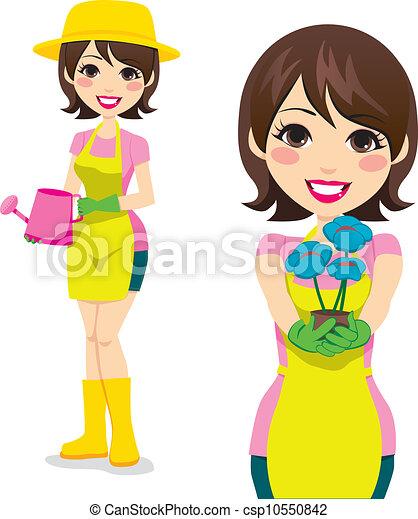 Gardening Woman Vector Eps Csp10550842
