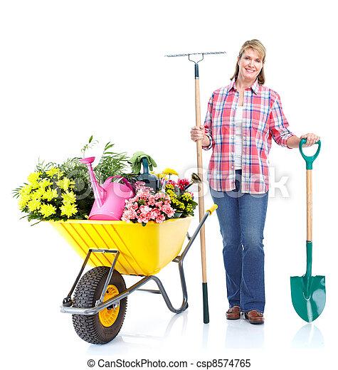 Gardening woman. - csp8574765