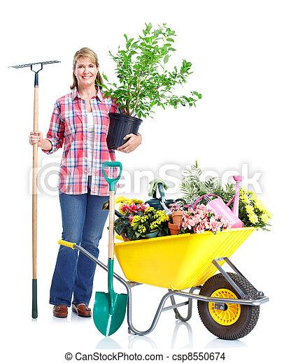 Gardening woman. - csp8550674