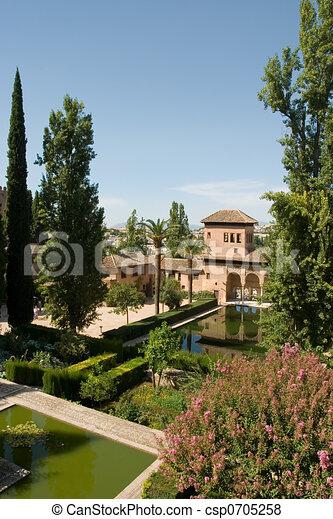 Gardens Alhambra Spain - csp0705258