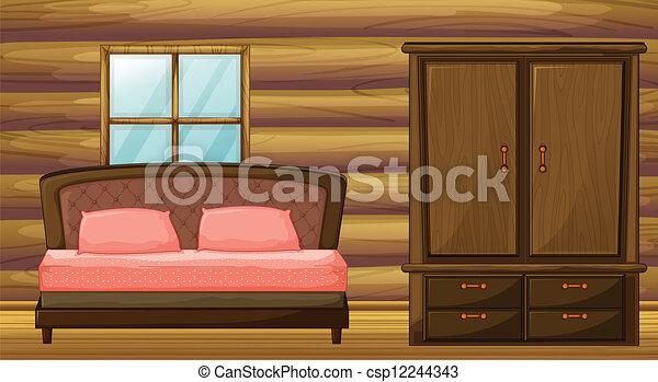 garderob, säng - csp12244343