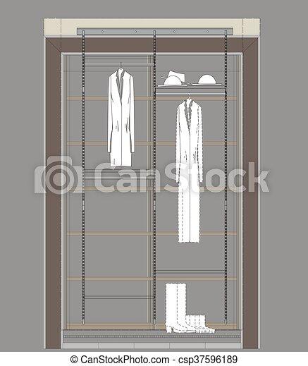 Garderobe Kast Nl.Garderobe Kast Tekening Kast Woongebied Garderobe