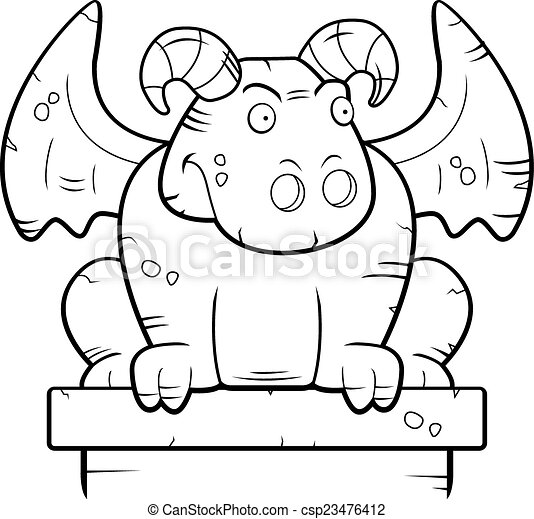 Gargoyle Perched - csp23476412