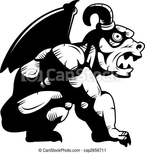 Gargoyle Perched - csp2656711