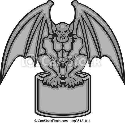 gargoyle rh canstockphoto com Gargoyle Drawings Black and White Gothic Architecture Gargoyles