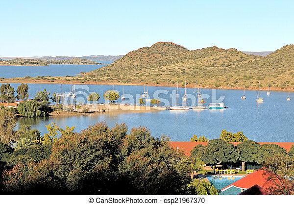 Gariep dam harbor - csp21967370