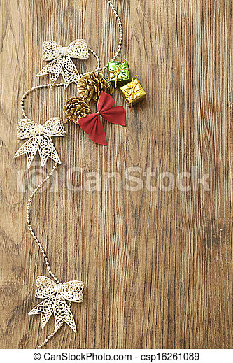 Garland and christmas decorations - csp16261089