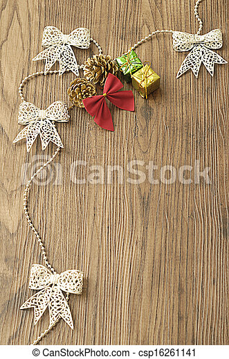 Garland and christmas decorations - csp16261141