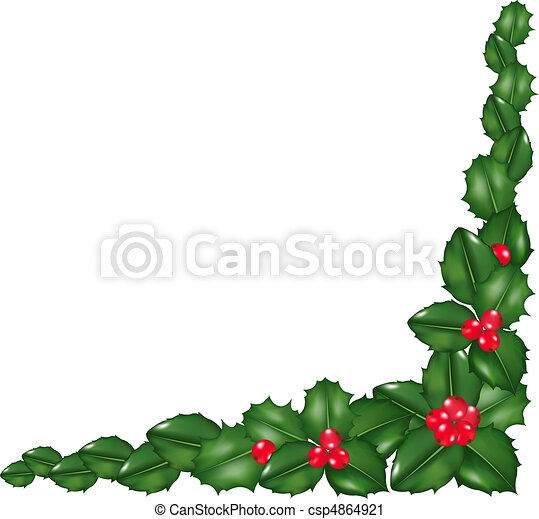 garland from holly berry isolated on white background vector rh canstockphoto com