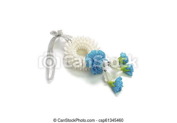 garland jasmine isolated on white background - csp61345460