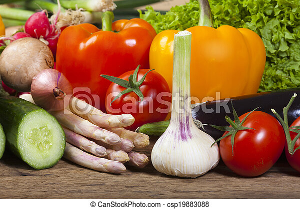 Garlic, asparagus and other vegetables - csp19883088