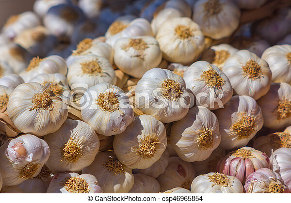Garlic broth background - csp46965854