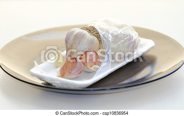 garlic in a package - csp10836954