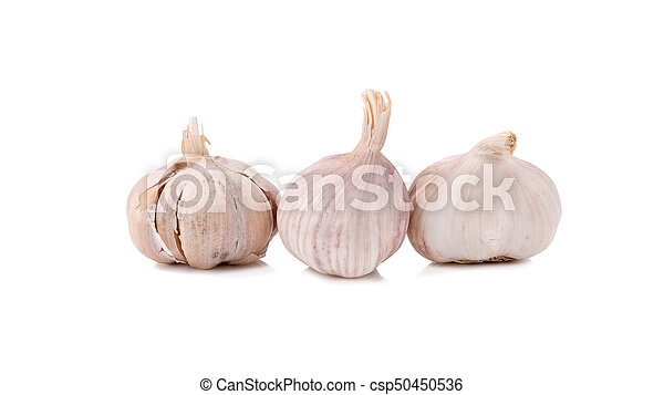 garlic isolated on white background. - csp50450536