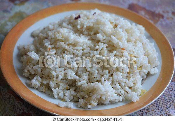 garlic rice - csp34214154