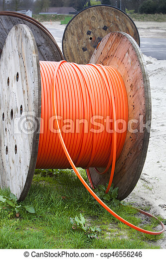 Niederlande, orange, garnrollen, industrie, kabel Stockfoto ...