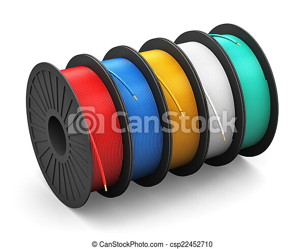 Garnrollen, kabel, elektrische strom. Kupfer, industrie ...