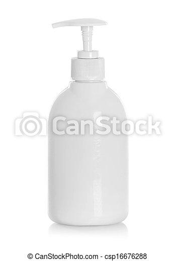 garrafa, tubo, condicionador cabelo, branca, enxague, shampoo - csp16676288