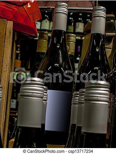garrafas, exposição, loja, vinho - csp13717234