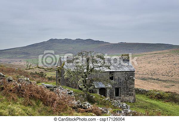 Garrow Tor on Bodmin Moor in Cornwall - csp17126004