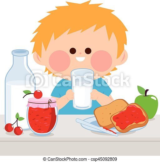 gar u00e7on  peu  avoir  petit d u00e9jeuner gar u00e7on  lait  sien lunch clip art free images lunch clip art kids