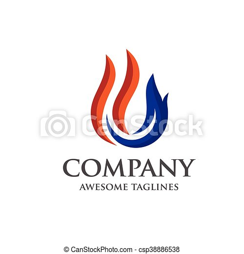 gas and flame logo