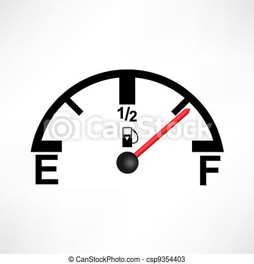 Ilustración del tanque de gasolina blanco - csp9354403
