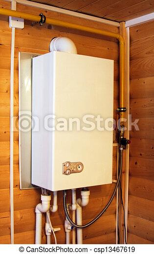 gas, caldaia - csp13467619