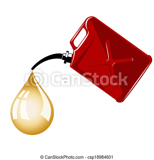 gas can clipart. vector - gas can clipart n