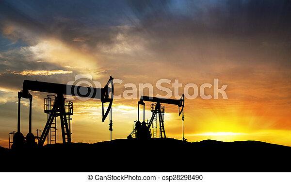 Equipo de exploración de gas petrolero - csp28298490