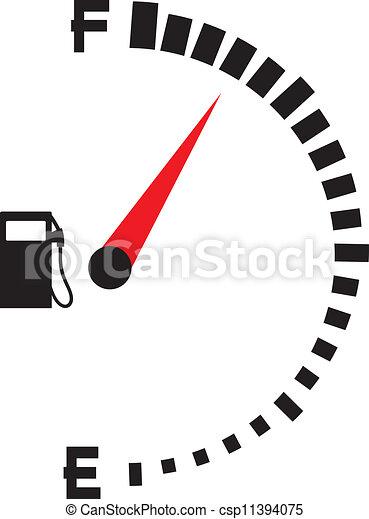 gas gauge (gas tank, gas gage) - csp11394075