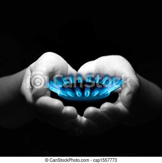 gas in hands - csp1557773