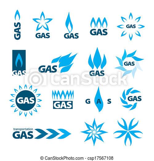 gas, logos, vektor, natürlich, sammlung - csp17567108