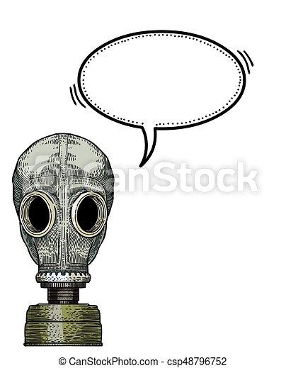 gas mask-100 Cartoon image - csp48796752