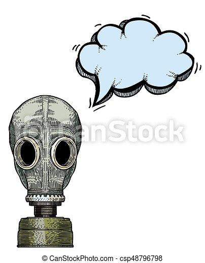 gas mask-100 Cartoon image - csp48796798