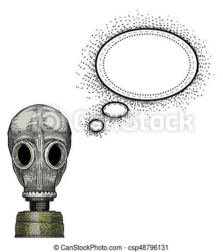 gas mask-100 Cartoon image - csp48796131